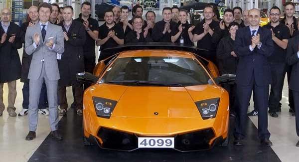 Lamborghini прекратила выпуск Murcielago