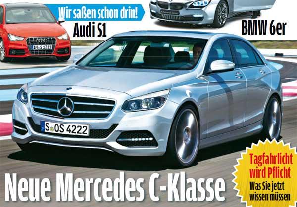 Новый Mercedes C-класса. Первые рисунки