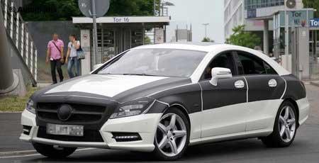 Откровенные шпионские снимки нового Mercedes CLS